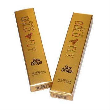 Возбуждающие капли для женщин Шпанская мушка / Spanish Gold Fly, пробник (2 стика)