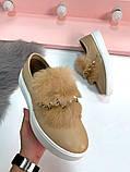 8 цветов! Нереально классные туфли с камнями и натуральным мехом, фото 6