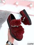 8 цветов! Нереально классные туфли с камнями и натуральным мехом, фото 7