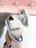 8 цветов! Нереально классные туфли с камнями и натуральным мехом, фото 8