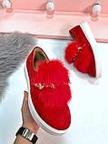 8 цветов! Нереально классные туфли с камнями и натуральным мехом, фото 10