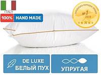 Пуховая высокая подушка 905 DeLuxe white Hand Made 98% пух Mirson 40х60 см