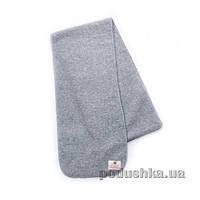 Детский флисовый шарф серый большой Модный карапуз 03-00545  Длина 165 см