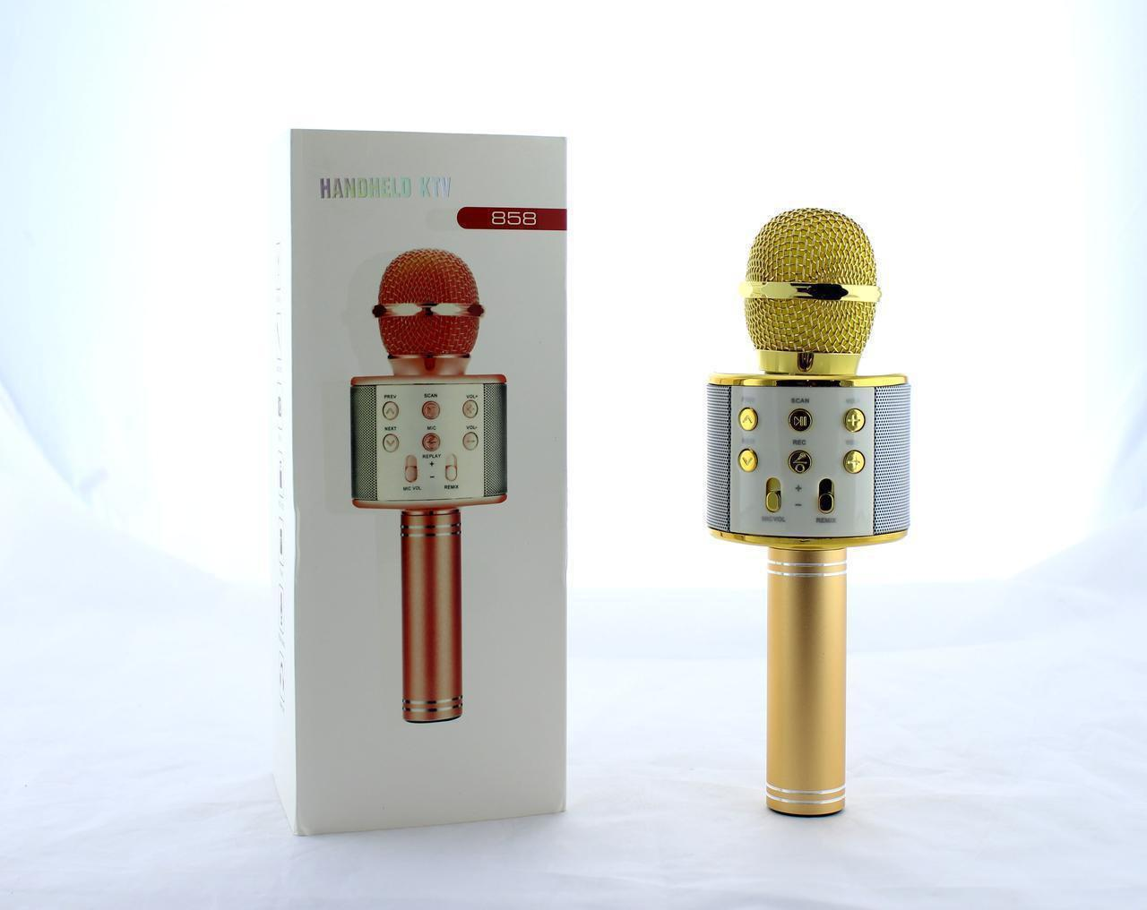 Беспроводной микрофон с динамиком 858, фото 1