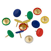 Кнопки цветные 100 шт пласт покрыт пласт конт Axent 4214-A