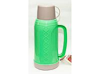Термос со стеклянной колбой и клапаном, 1,8 литра. Термос для жидкости. Термос питьевой.