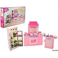 Мебель для кукол Глория Gloria 9986 Кухня Барби плита, холодильник, умывальник