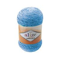 Плюшевая пряжа Пряжа Alize Softy Plus Ombre Batik 7281 (нитки для вязания Ализе Софти Плюс Омбре Батик)