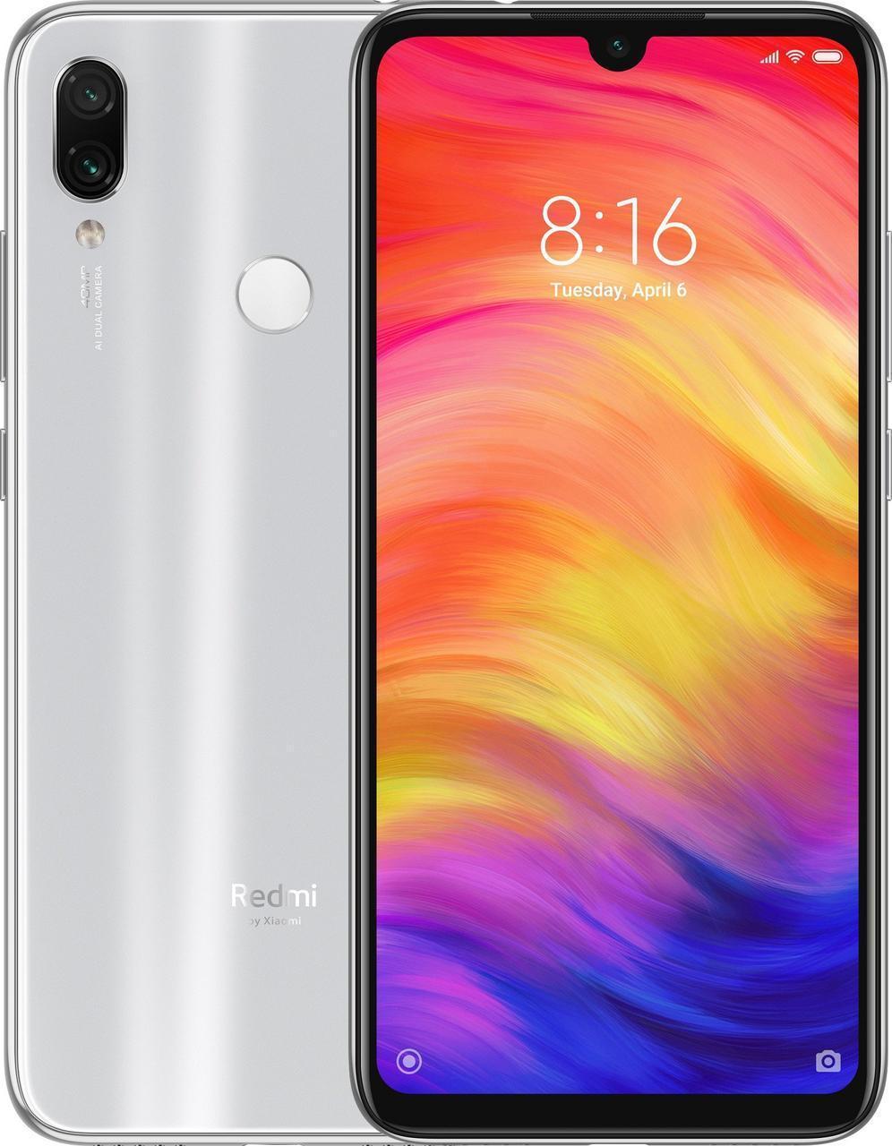 Смартфон Xiaomi Redmi Note 7 4/64Gb Moonlight White UA-UCRF Гарантия 1 год