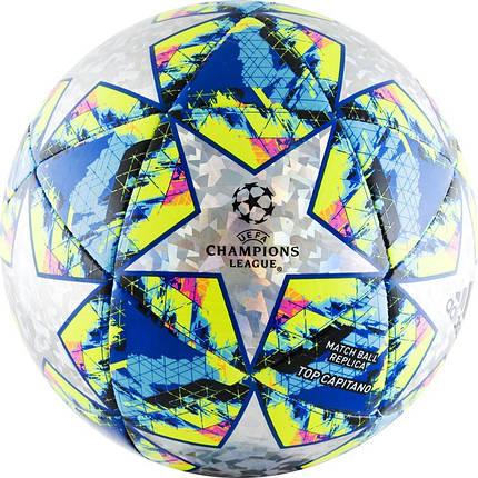 Мяч футбольный Adidas Finale 19 Top Capitano DY2564 №5 Белый с синим (4061624832602), фото 2