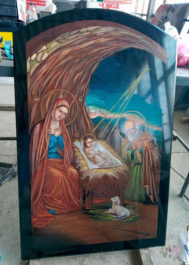 Ікона на камені Різдво Христове (спецзамовлення)