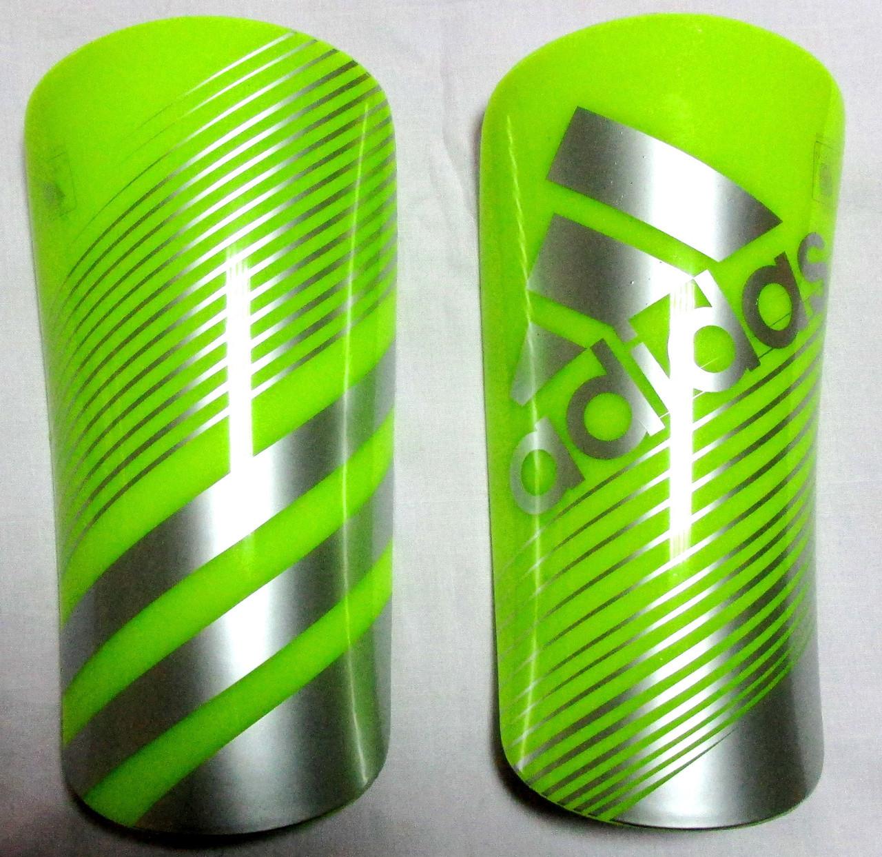 Щитки Adidas Lite ярко-зеленые Распродажа! Оптом и в розницу