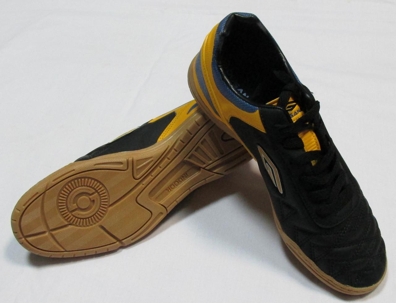 Бампы (футзалки) Dugana желто-черные Распродажа! Оптом и в розницу
