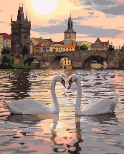 """Картина по номерам. """"Романтичная Прага"""" 40*50см KHO4135"""