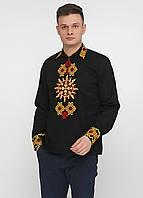 Вышиванка-рубашка УкрМода 44 р Черная (umd-0008-44)
