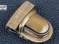 Замок сумочный 65-063 антик, р. 42*48 мм