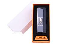 Электрическая подарочная USB зажигалка Ukraine USB HL-62 Двойная дуга Черный