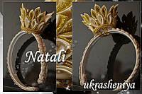 Ободок корона канзаши золотая