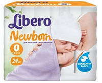 Подгузники Libero Newborn 0, > 2,5 кг, 24 шт,  либеро ньюборн