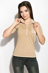 Поло женское AG-0010972 Песочный варенка XS