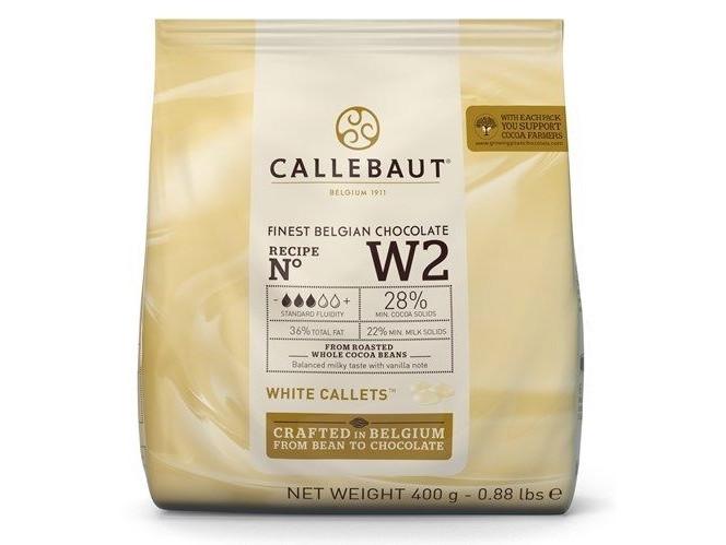 Бельгийский Белый шоколад Barry Callebaut W2, 400 грамм 28% какао