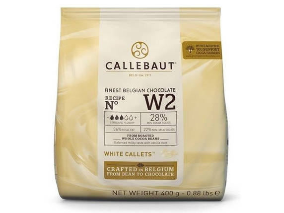 Бельгийский Белый шоколад Barry Callebaut W2, 400 грамм 28% какао, фото 2