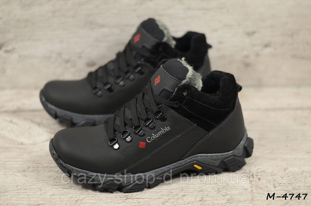 Мужские кожаные ботинки Columbia (Реплика) (Код: М-4747  ) ►Размеры [40,41,42,43,44,45]