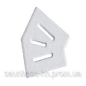 Кутовий елемент AquaViva Classic і Grift для переливання решітки 45° 245/25 мм (білий)