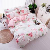 Уценка (дефекты)! Комплект постельного белья Большой фламинго (двуспальный-евро) Berni