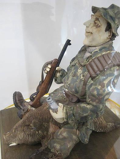 """Оригинальная статуэтка """"Охотник с ружьем"""". Эксклюзив"""