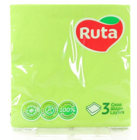 """Серветки """"Ruta"""" 33х33 20л 3ш зелені"""