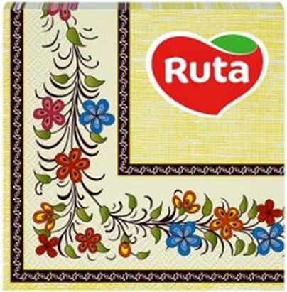 """Серветки """"Ruta"""" Етно 33х33 20л 2ш з друком ароматизовані"""