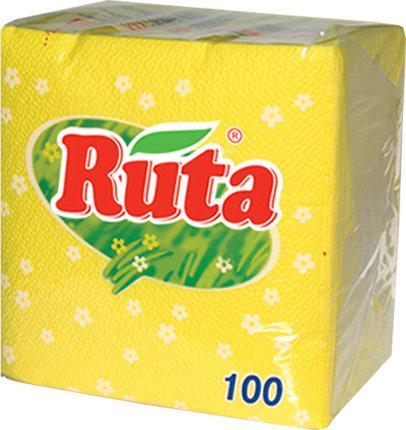 Серветки Ruta 24х24 100л 1ш жовті