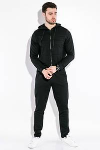 Костюм спортивный мужской, однотонный с капюшоном 103P001 (Черный)