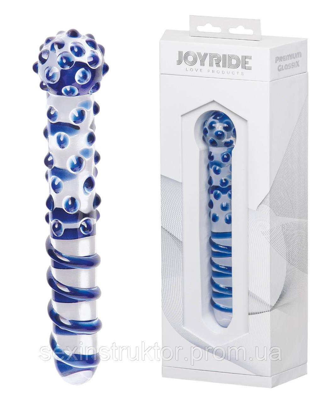 Стеклянный фаллоимитатор - JOYRIDE Premium GlassiX 07
