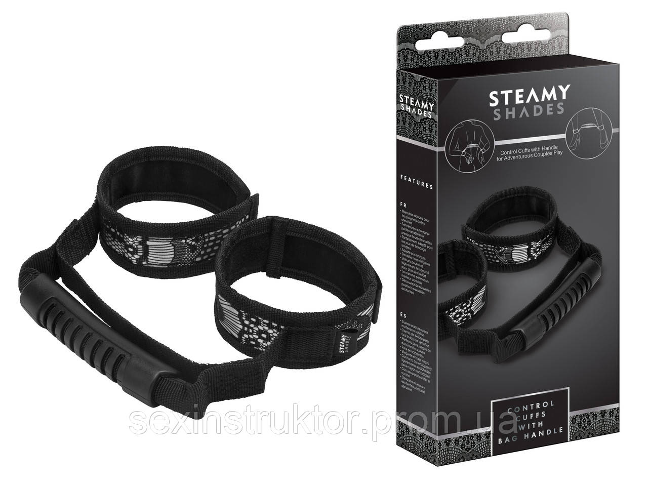 Наручники - STEAMY SHADES Control Cuffs with Bag Handle