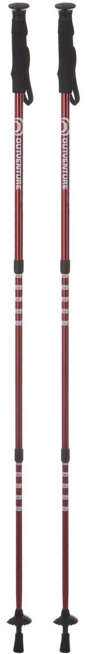 Треккинговые палки Outventure, Красный, 65-135