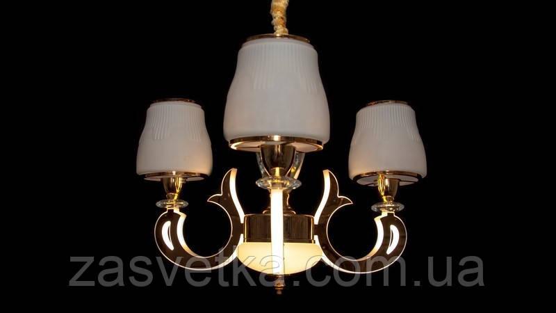 Люстра в классическом стиле с LED подсветкой веток. 8373/3 (хром,золото)