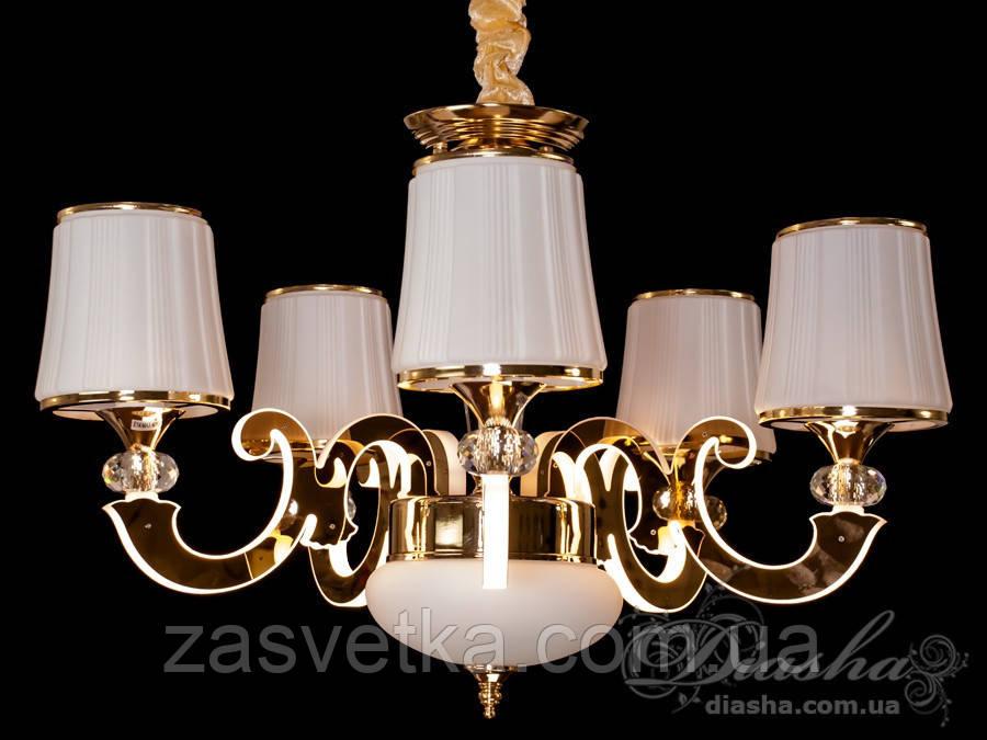 Классическая люстра со светящимися рожками 40W 8333/5 (хром,золото)