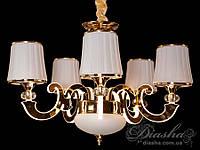 Классическая люстра со светящимися рожками 40W 8333/5 (хром,золото), фото 1