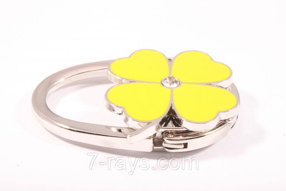 "Сумкодержатель ""Цветок клевер"" желтая"