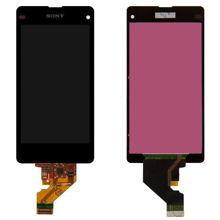 Дисплей (экран) для телефона Sony Xperia Z1 Compact D5503 + Touchscreen Black