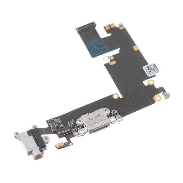 Шлейф Apple iPhone 6 Plus с разъемом зарядки, наушников и микрофоном Original Grey