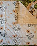 Конверт - плед на выписку с вышивкой серые Короны, фото 6