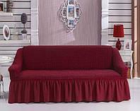 Чехол для трехместного дивана Arya Burumcuk Бордовый
