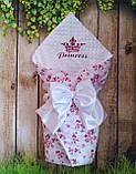 Конверт - плед  плюшевый с вышивкой весна-лето-осень Короны, фото 10