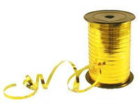 Лента для шаров золотая 1м