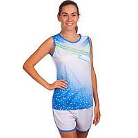 Форма для легкой атлетики женская (белый-синий)