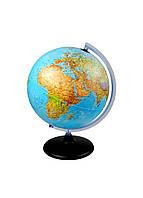 Глобус с подсветкой Melinera 41х30см Голубой, Желтый, Черный Поврежден товар