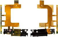 Шлейф Sony C5502 M36h Xperia ZR / C5503 M36i Xperia ZR с кнопкой включения и громкости, вибромотором и микрофоном Original
